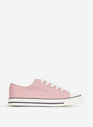 Dorothy Perkins Womens Wide Fit Peach 'Icon' Trainers