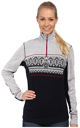 Dale of Norway Rondane Feminine (Navy/White Mel/Raspberry) Women's Sweater