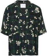 Sacai floral checked shirt