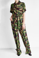 Off-White Camouflage Silk Jumpsuit