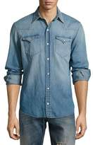 Ralph Lauren Washed Denim Western Shirt, Indigo