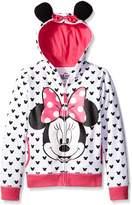 Disney Big Girls Minnie Hoodie with Bow and Ear