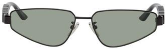Balenciaga Black Typo Rectangular Sunglasses