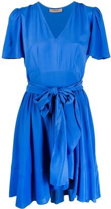 Twin-Set Flared Tie-Waist Dress
