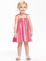 Old Navy Patterned Crepe Sundress for Toddler Girls