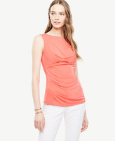 Ann Taylor Side Ruched Shell