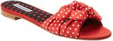 Tabitha Simmons Cleo Bow-Embellished Twill Slide