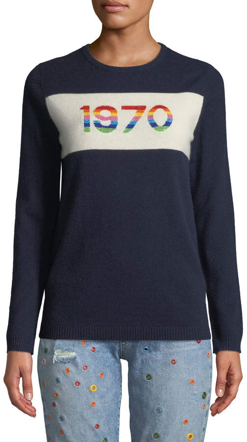 Bella Freud 1970 Rainbow Graphic Cashmere Sweater
