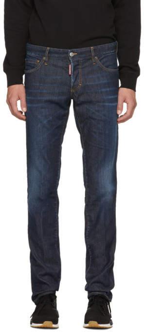 DSQUARED2 Blue Done Deal Slim Jeans