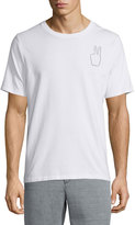 Rag & Bone Embroidered Peace-Sign Short-Sleeve Tee, White