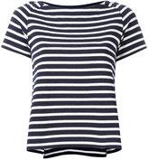 Sacai striped boat neck top - women - Cotton - 1