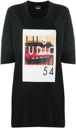 Just Cavalli graphic-print oversized T-Shirt