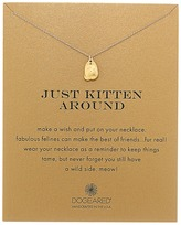 Dogeared Just Kitten Around Reminder Necklace Necklace