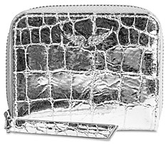 Zadig & Voltaire Mini Leather Card Holder Pouch
