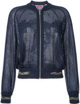 Coohem emboss eyelet tiger jacket - women - Linen/Flax/Acrylic/Nylon/Polyester - 40