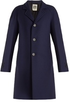 CONNOLLY Single-breasted wool-blend twill coat