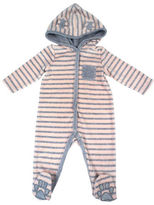 Jessica Simpson Striped Velour Hooded Footie