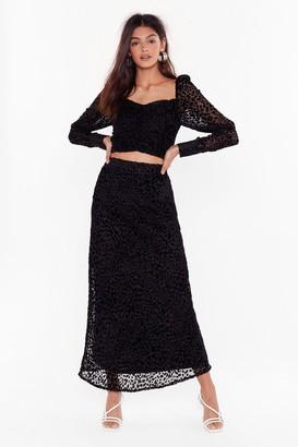 Nasty Gal Womens Studio Love Bites Leopard Skirt - Black - 10