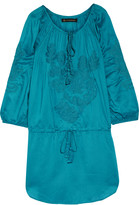 Vix Amy embroidered voile mini dress