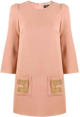 Elisabetta Franchi Chain-Embellished Mini Dress