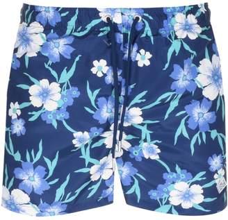 Gant Floral Classic Fit Swim Shorts Navy