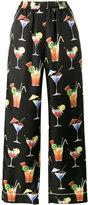 Dolce & Gabbana cocktail print pyjama trousers - women - Silk - 40