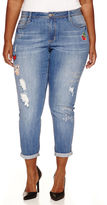 LOVE INDIGO Love Indigo Multi-Patch Skinny Jeans