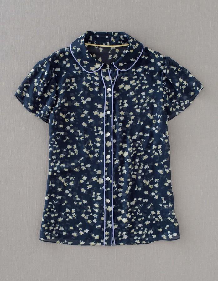 Boden Piped Short Sleeve Shirt