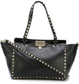 Valentino Garavani Valentino Rockstud trapeze tote - women - Cotton/Calf Leather - One Size