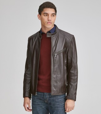 Andrew Marc   Final Sale Gibson Leather Moto Jacket