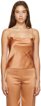 Nanushka Orange Satin Johar Tank Top