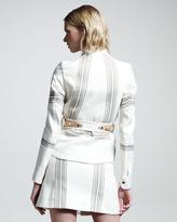 Belstaff Danforth Striped Zip Skirt