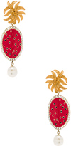 Dolce & Gabbana Red Oval Earrings