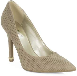 GUESS Traces Perforated Suede Pumps