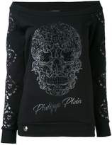Philipp Plein off-the-shoulder sweatshirt