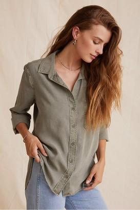 Bella Dahl Soft Army Button Down Shirt - Xsmall