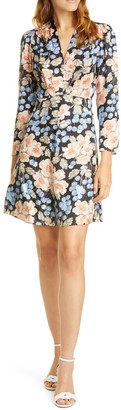 Rebecca Taylor Rose Long Sleeve Minidress