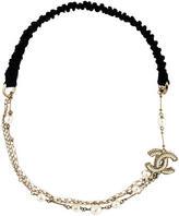 Chanel Pearl CC Headband