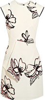 Roland Mouret Floral-print Cloqué Mini Dress - White