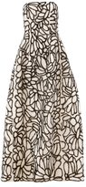 Oscar de la Renta sequin embellished strapless dress