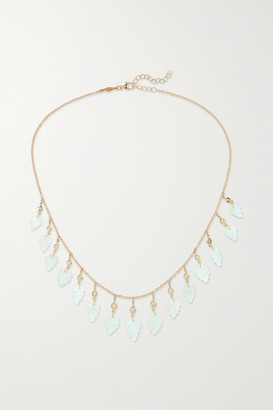 Jacquie Aiche 14-karat Gold, Aquamarine And Diamond Necklace