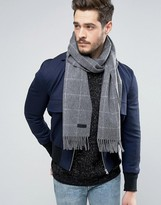 Jack and Jones Wool Scarf in Check