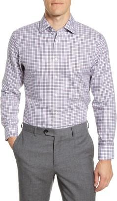 The Tie Bar Trim Fit Tattersall Twill Dress Shirt