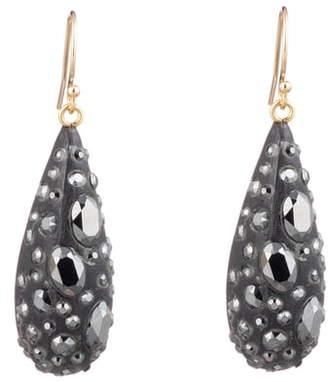Alexis Bittar Noir Dust Dew Drop Earrings