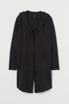 H&M Hooded Sweatshirt Cardigan - Black