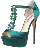 Betsey Johnson Womens Elizabeth Peep Toe Special Occasion Ankle Strap Sandals.