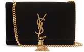 Saint Laurent Kate small velvet cross-body bag