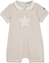 Moncler Star cotton-blend romper 3-24 months