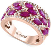 Effy Final Call Ruby (3-1/4 ct. t.w.) and Diamond (1/3 ct. t.w.) Ring in 14k Rose Gold