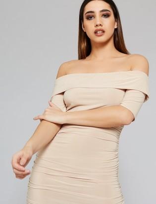 Public Desire Uk Slinky Bardot Dress
